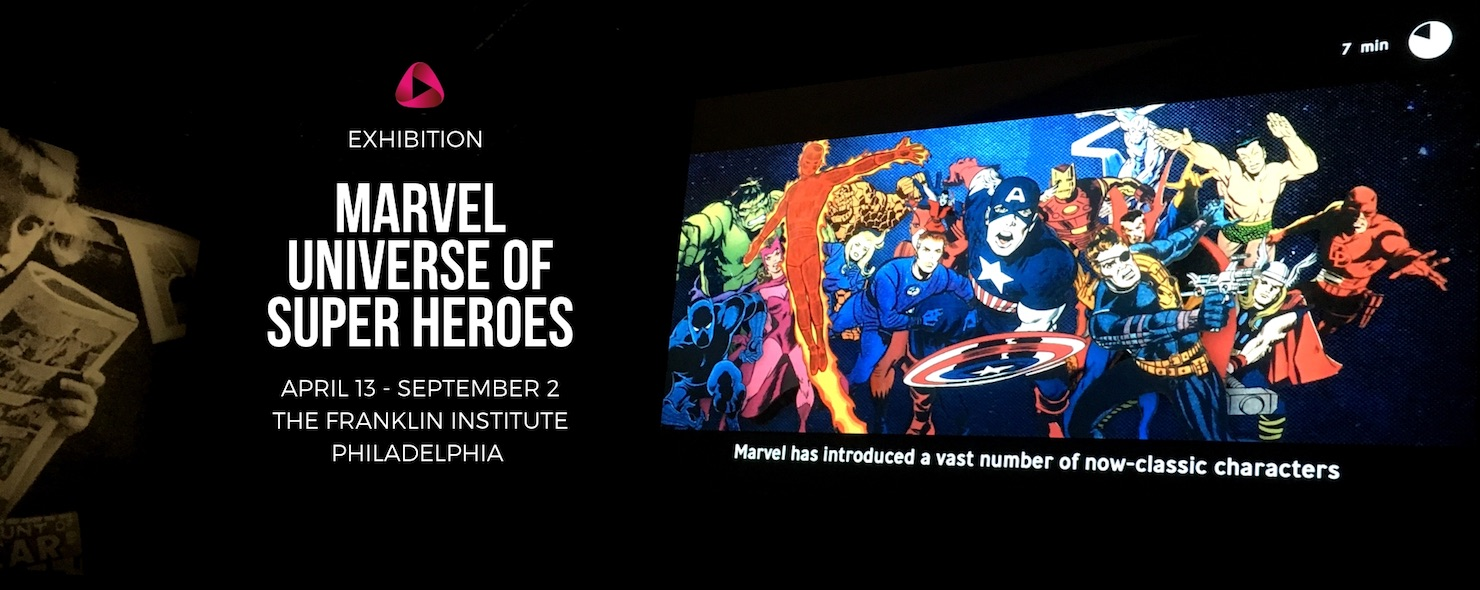Marvel Universe of Super Heroes Philadelphia Franklin Institute Britzka